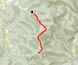 Eagle and Haynes Mountains Via Rider Hollow Map