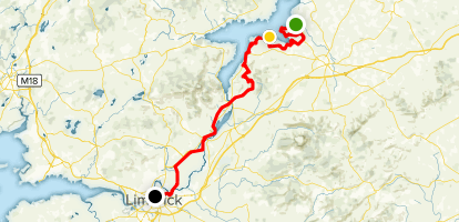 Lough Derg Way North to South Map