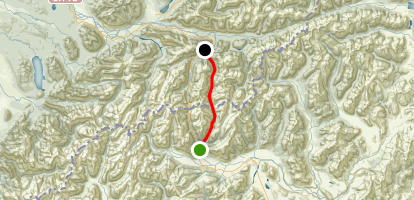 Goat Hut Pass to Deception River Map