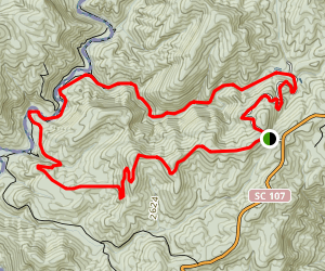 Medlin Mountain, Spoonauger Falls, and East Fork Loop Map