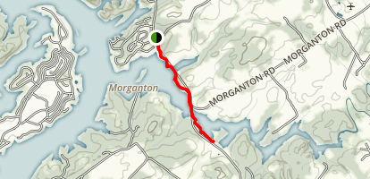 Morgantown Branch Trail Map