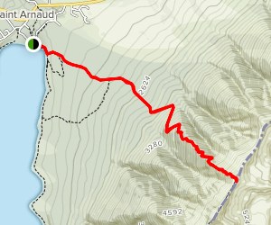 St Arnaud Range Track to Parachute Rocks Map