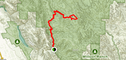 Kelly and Coit Lakes Trail Map