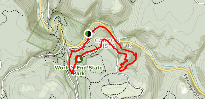 Cold Run Extended Loop Trail Map