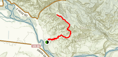 Stinking Springs to Unnamed Kelly Mountain Summit Map