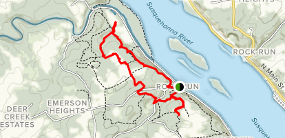 Rock Run Grist Mill Trail Map