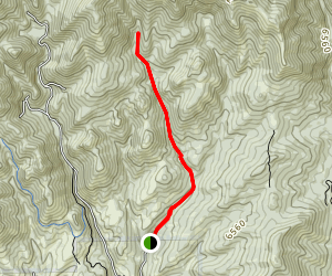 Killyons Canyon Left Fork Map