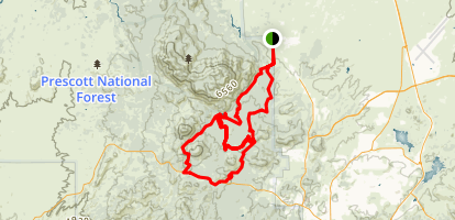 Granite Basin MTB Loop Map