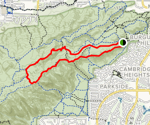 Midlife Crisis Trail and National Trail Loop Map
