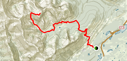 Wendell Mountain Route Map