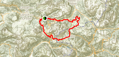Sellaronda MTB Loop Map