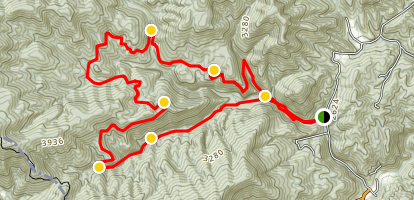 Rocky Fork Loop to Blockstand and Flint Creeks Map
