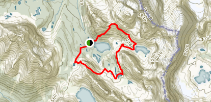 Lake O'Hara Alpine Circuit Map