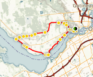 The Jean de Brébeuf Western Loop Map