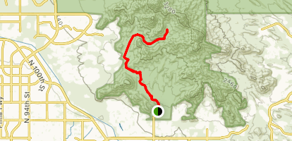 Lost Dog to Quartz Trail Map