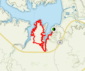 South Shore and Pedros Point Loop Map