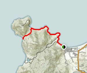 Muka Head - Teluk Ketapang Hike Map