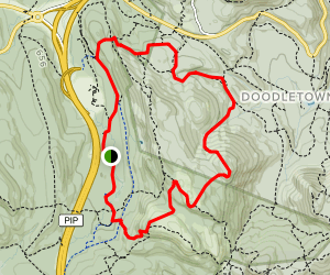 West Mountain and F Trail Loop Map