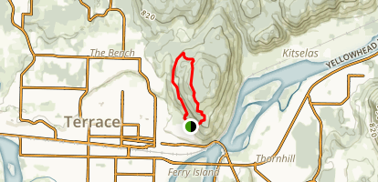 Terrace Mountain and Flathead Loop Map