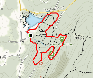 YMCA Camp Sloper White and Black Trail Loop Map