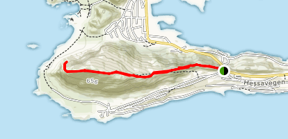 Sugartop Hike (Sukkertoppen) Map