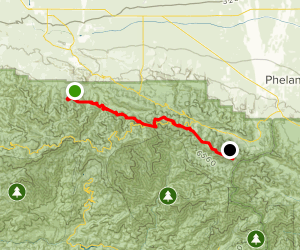 Devils Punchbowl to Wrightwood via PCT Map