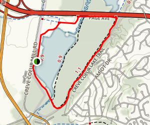 Mallard Lake Loop via Creve Coeur Lake Trail Map