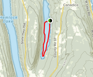 Canadice Lake Canoe Loop Map
