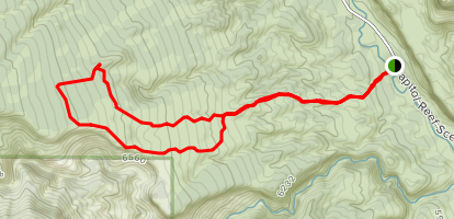 Old Wagon Loop Trail Map