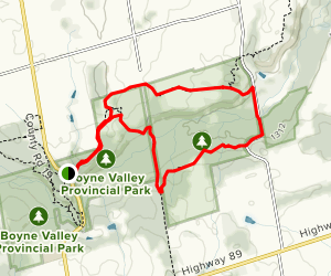 Boyne Valley Side Trail Loop  Map