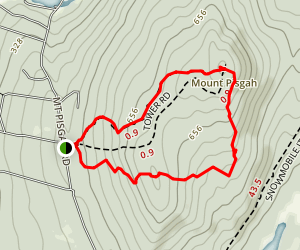 Tower and Blueberry Trail Map