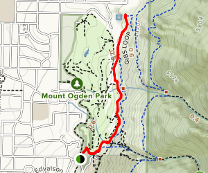 Ogden Foothills Exercise Trail Map