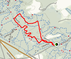 Orange and White Trail Loop Map