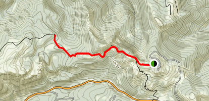 Lobo Overlook and Continental Divide Trail Map