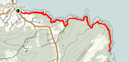 Black Head North Via Stiles Cove Path Map