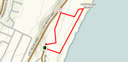 Umhlanga Lagoon Trail Map