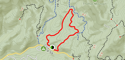 White Tail Loop from North Creek Camping Area Map