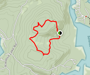 Upper Oseetah Woods Loop Trail Map