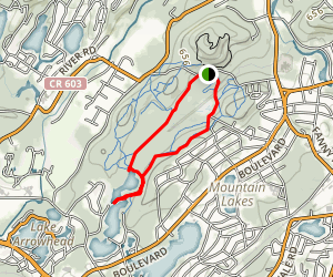 White Ogden Trail, Red and Blue Trail Loop Map