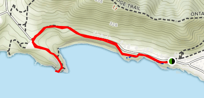 Cave Landing and Pirate's Cove from Shell Beach Map