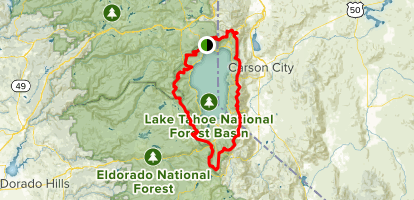 Tahoe Rim Trail (TRT) Complete Loop Map
