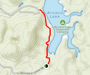 Arivaca Lake Shore Trail Map
