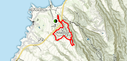 Kapalua Village Walking Trail Lake Loop Map