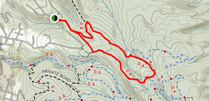 Vista Trail 10 to Janes Creek Trail to California Trsil Map