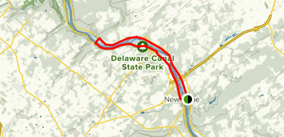 D&R Canal Towpath: Prallsville Mill and Lock Trail Map