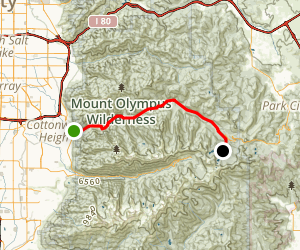 Big Cottonwood Canyon Scenic Byway Map