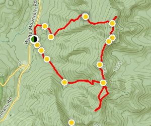 Mount Height to Carter Dome to  North Carter Loop Map