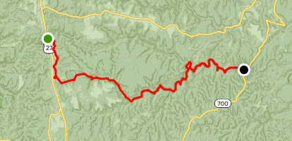 Sheltowee Trace: Flat Rock to KY 700 Map