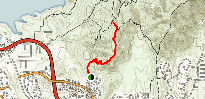 Mother Miguel Mountain Via Rock House Trail Map