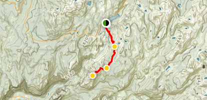 Clouds Rest Trail from Tenaya Lake Map